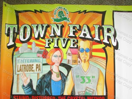 Latrobe Brewing Co Rolling Rock 2004 Town Fair Banner NEW / Old Stock