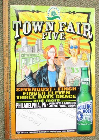 Town Fair V Rolling Rock Poster