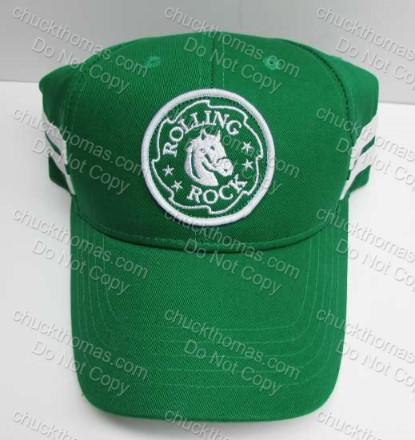Rolling Rock Saw Thooth Logo Patch Green Ball Cap