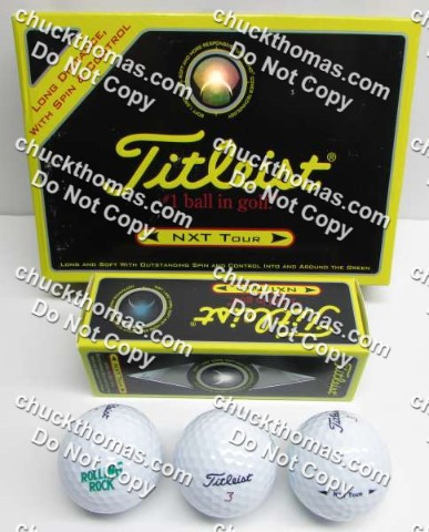 Rolling Rock Logo Titleist Golf Balls