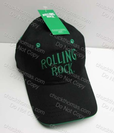 Rolling Rock NEW with Tag 'Rolling Rock' Embroidered Black Cap