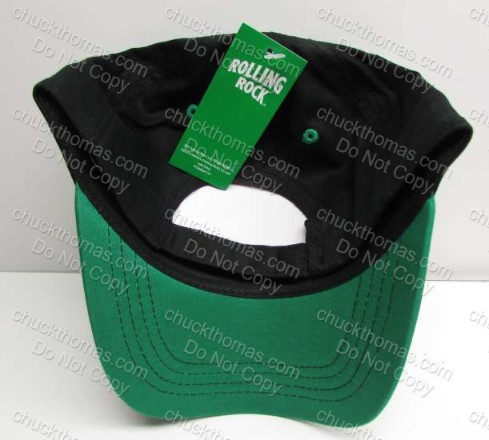 Rolling Rock NEW with Tag 'Rolling Rock' Embroidered Black Ball Cap