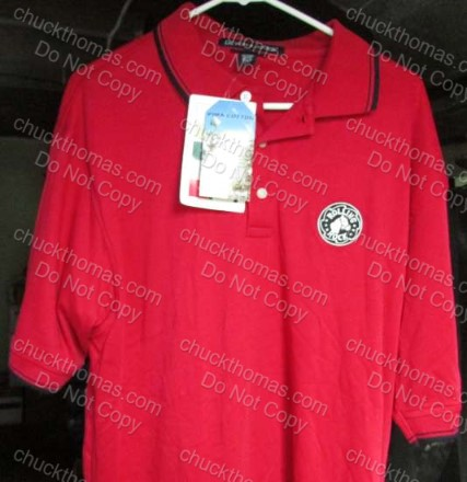 Rolling Rock Red Pima Cotton Golf Shirt